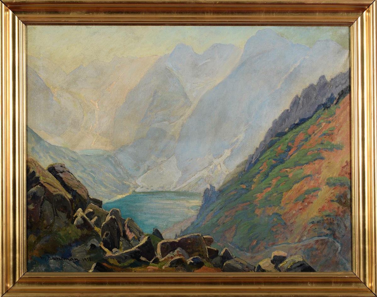 Widok na Morskie Oko znad Czarnego Stawu, 1938