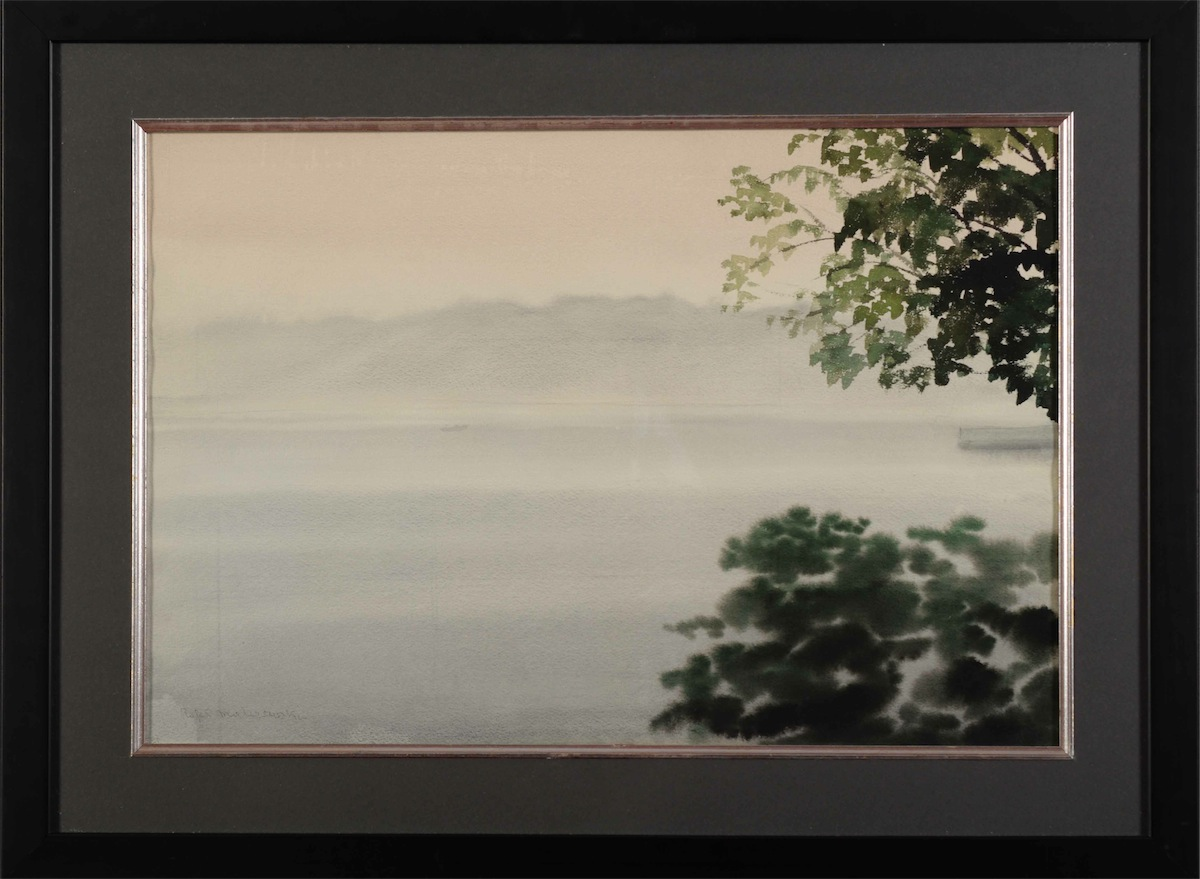 Pejzaż z jeziorem, ok. 1954