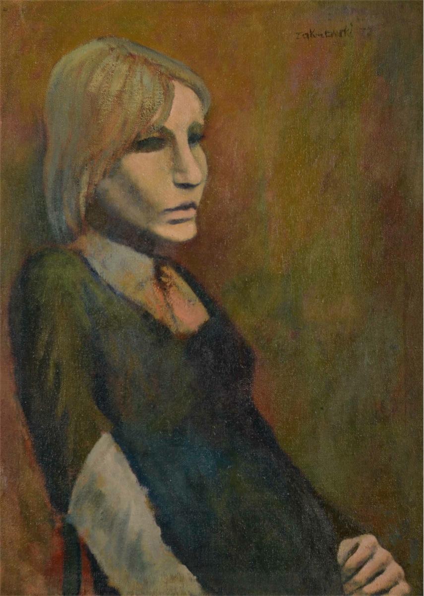 Portret kobiety w zielonej sukni, 1979