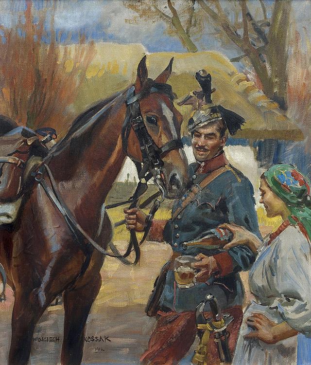 UŁAN I DZIEWCZYNA, 1912