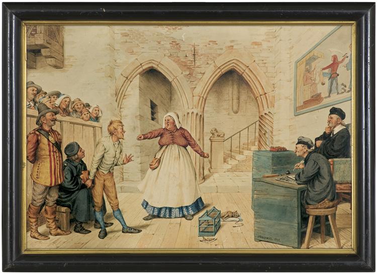 W SĄDZIE. SPRAWA O KOTA, 1895