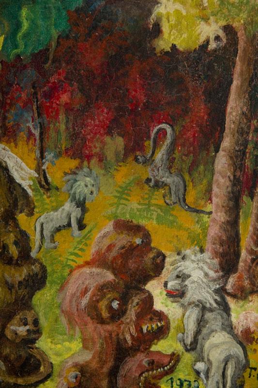 Scena fantastyczna ze zwierzętami, 1973 r.