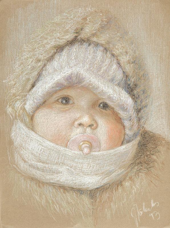 Niemowlę - syn artysty, 1993 r.