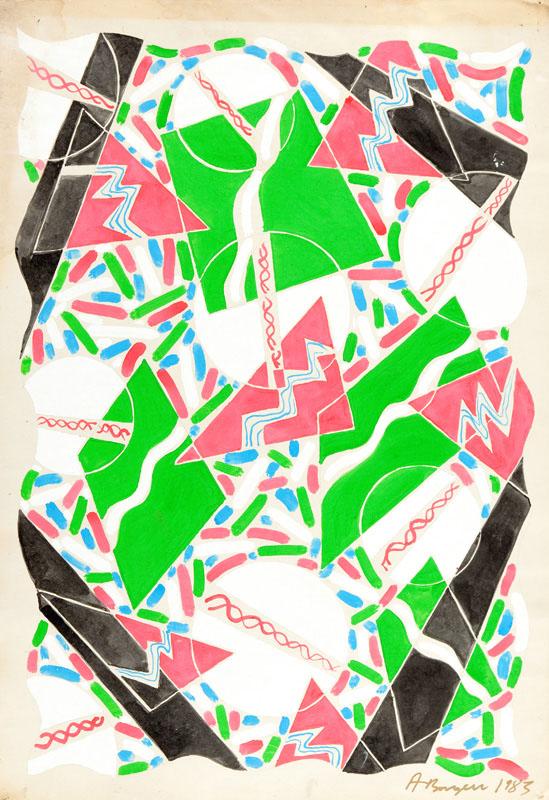 Kompozycja abstrakcyjna, 1983 r.