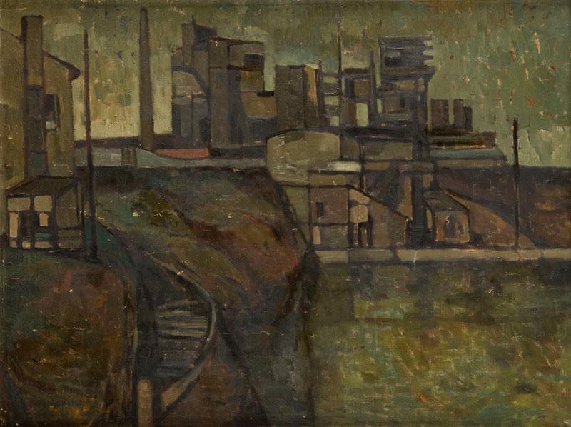 Pejzaż industrialny, lata 50-60. XX w.