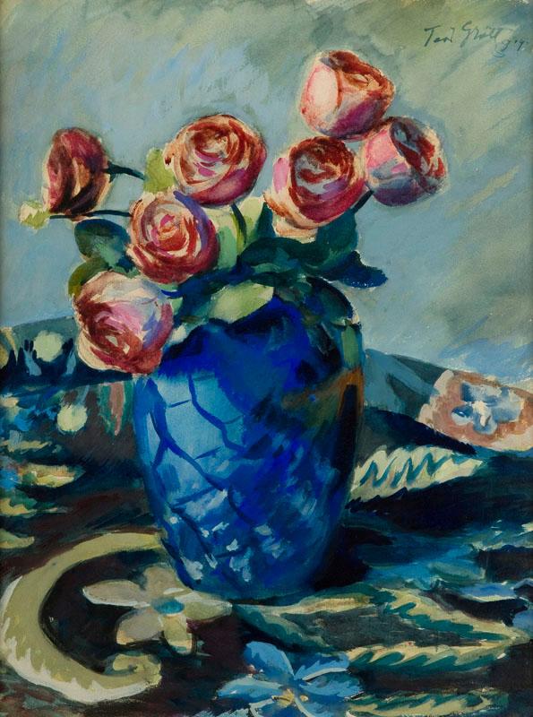 Róże w wazonie, 1914 r.