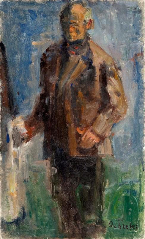 Autoportret przy sztaludze