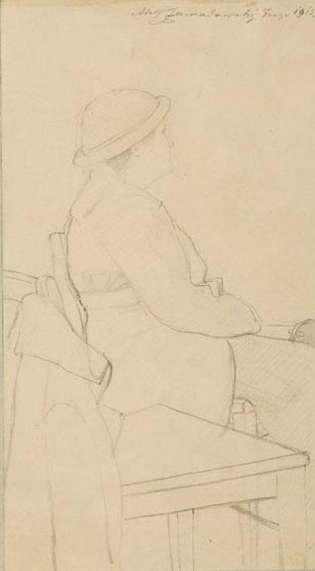 Siedząca kobieta, 1915 r.
