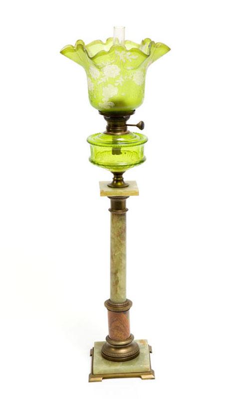 Lampa naftowa, XIX/XX w.