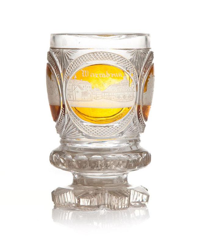 Szklanka w stylu biedermeier, 1 poł. XIX w.