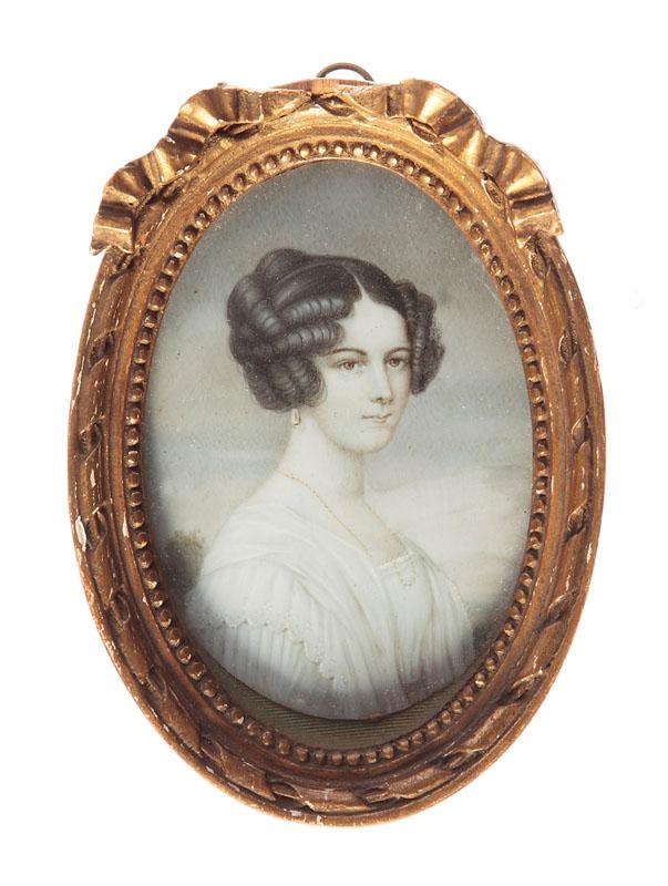 Miniatura - portret kobiety, pocz. XX w.