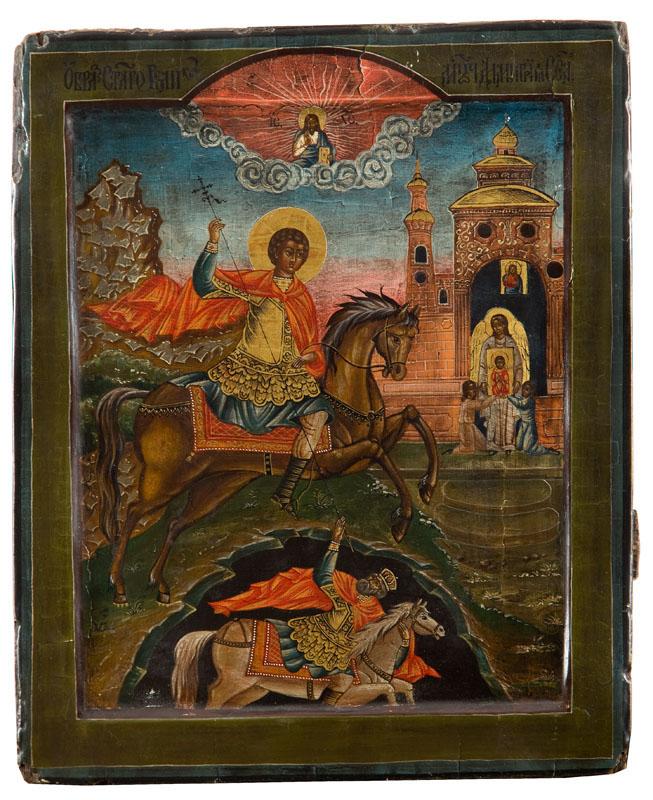 Ikona - św. Demetriusz, 4 ćw. XX w.