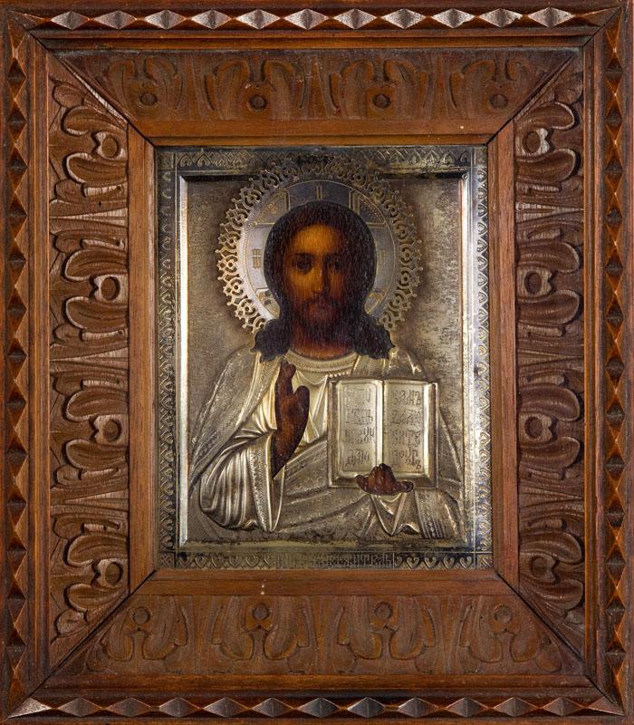 Ikona - Chrystus Pantokrator, koniec XIX w.