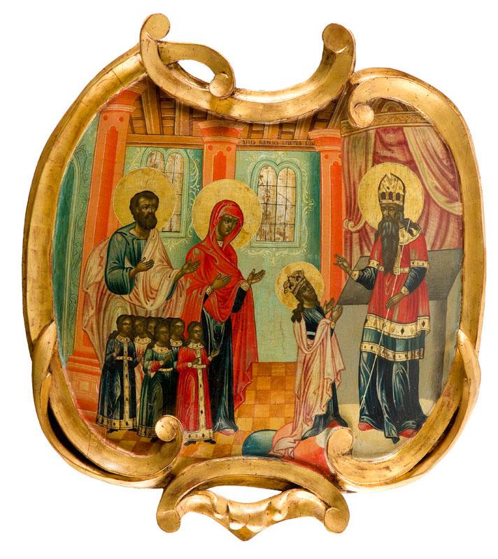 Ikona - Poświęcenie Maryi w świątyni, XVIII w.