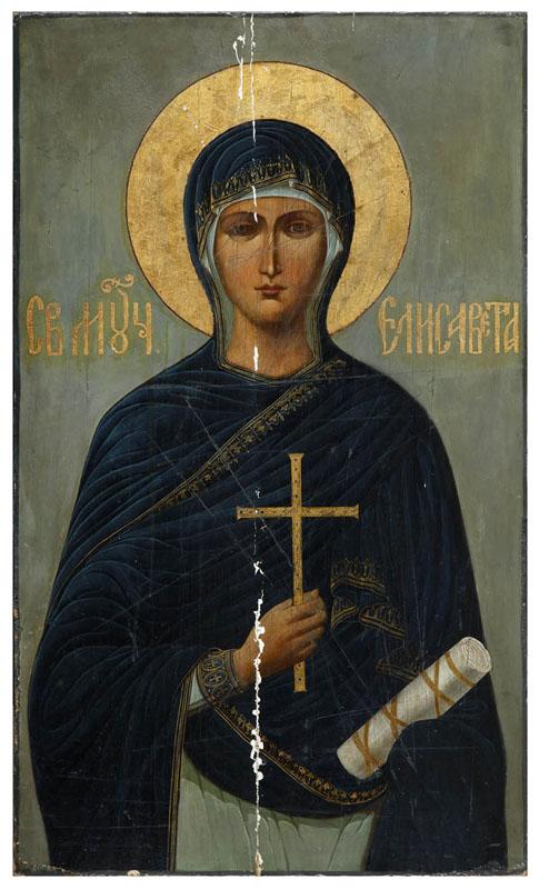 Ikona - Św. Elżbieta, XIX w.