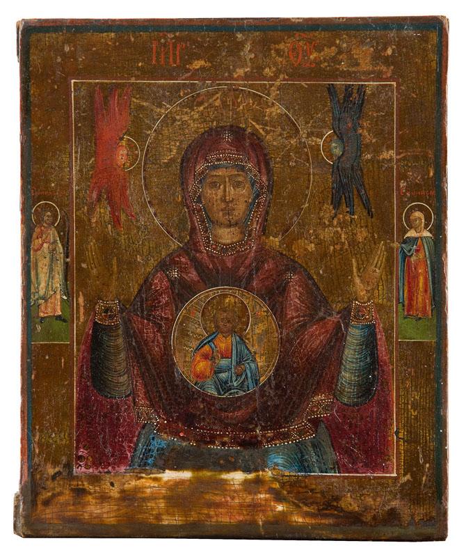 Ikona - Bogurodzica Znaku (Znamienije), XIX w.