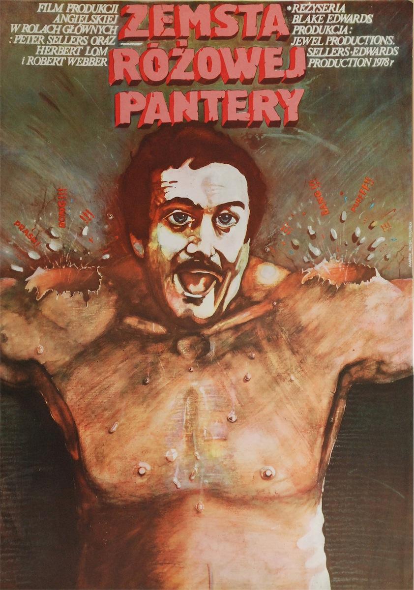 Plakat do filmu Zemsta Różowej Pantery w reżyserii Blake Edwards I
