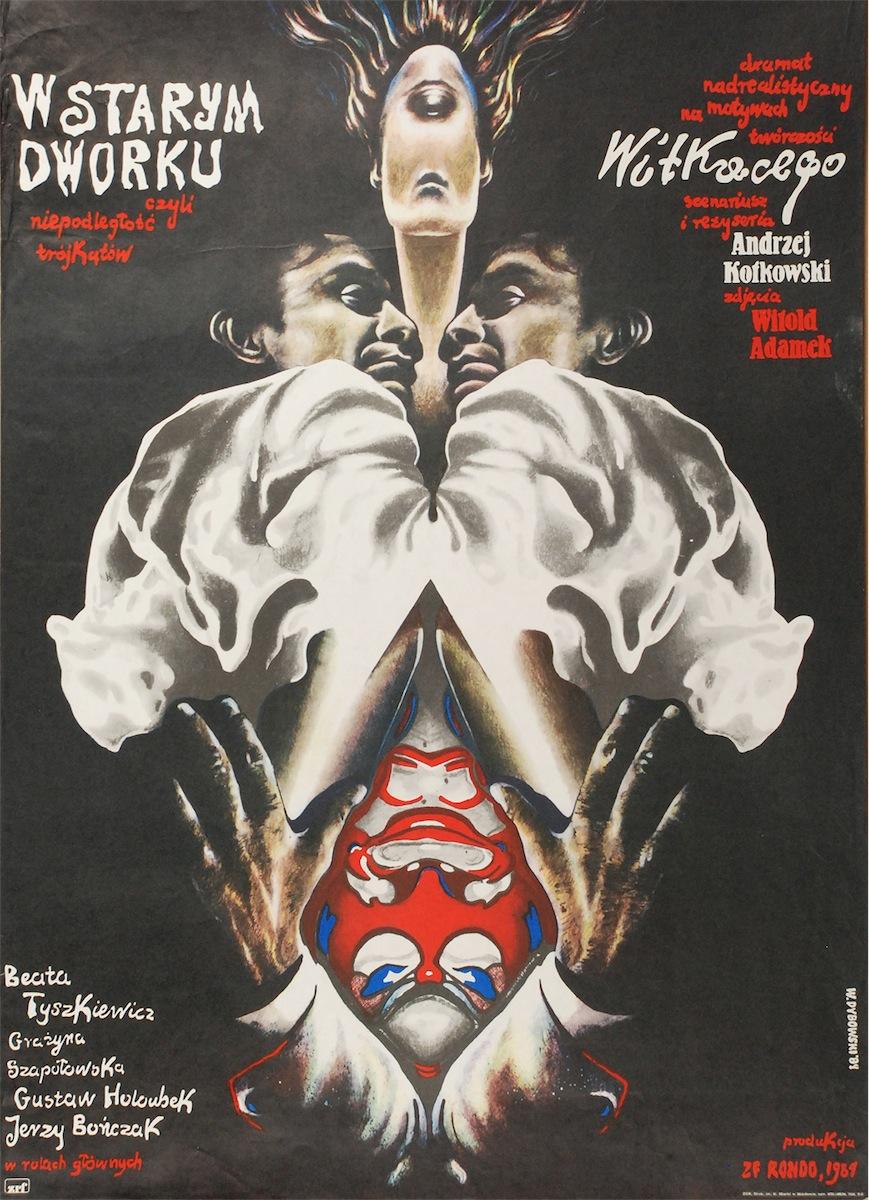 Plakat do filmu W starym dworku, czyli niepodległość trójkątów, 1984