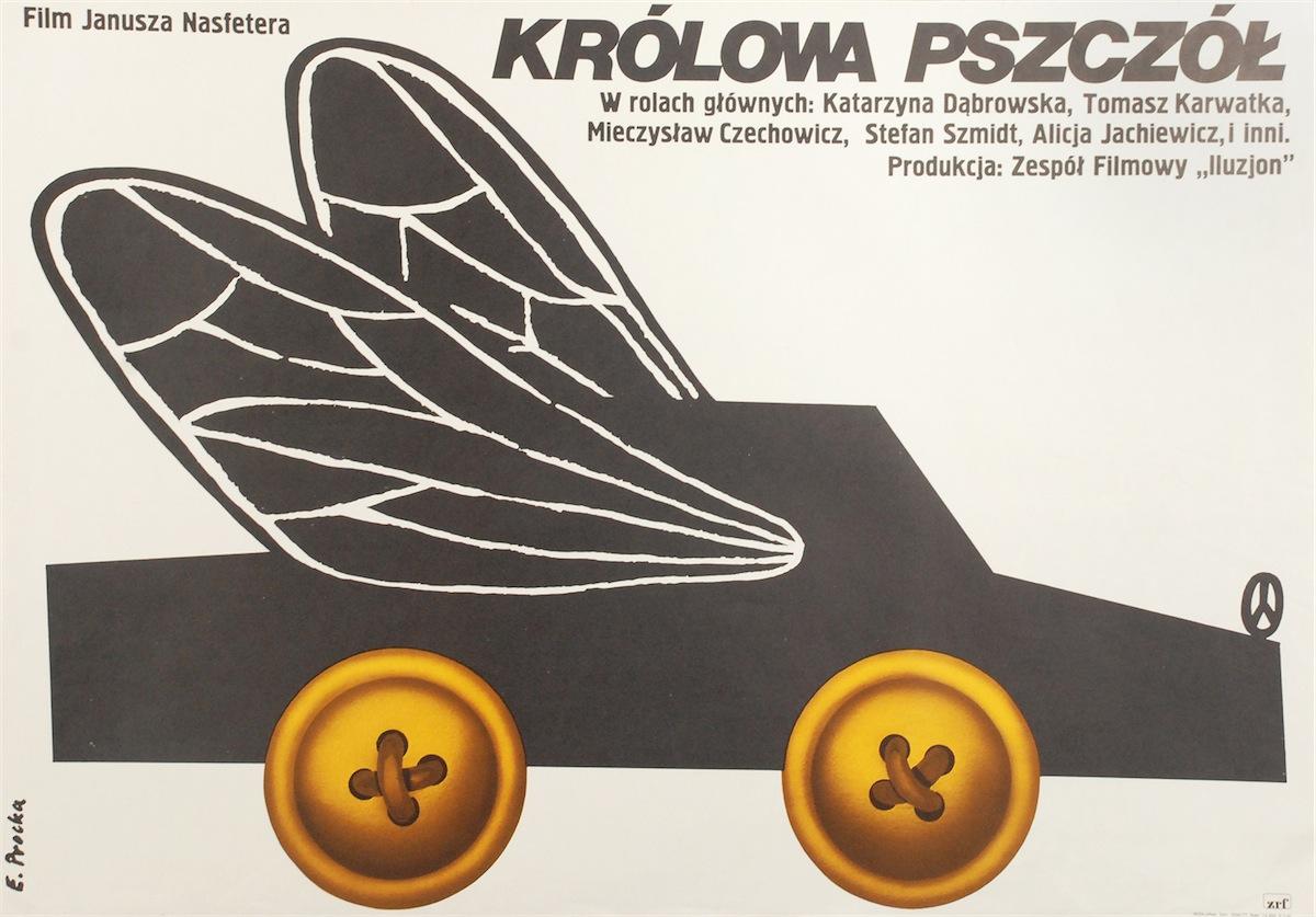 Plakat do filmu Królowa pszczół w reżyserii Janusza Nasfetera