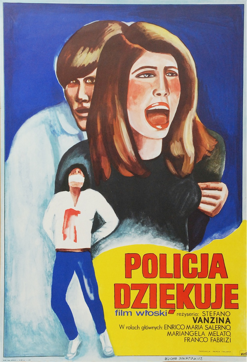Plakat do filmu Policja dziękuje w reżyserii Stena - Stefano Vanzina