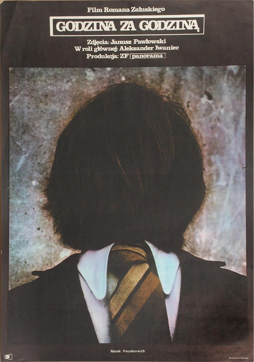 Plakat do filmu Godzina za godziną, 1974 - w reżyserii Romana Załuskiego