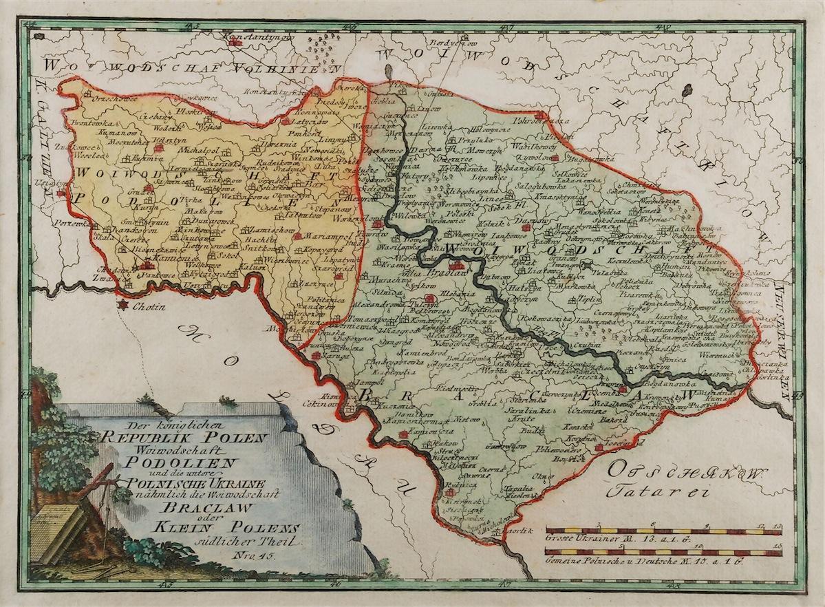Mapa Województwa Podolskiego i Bracławskiego,