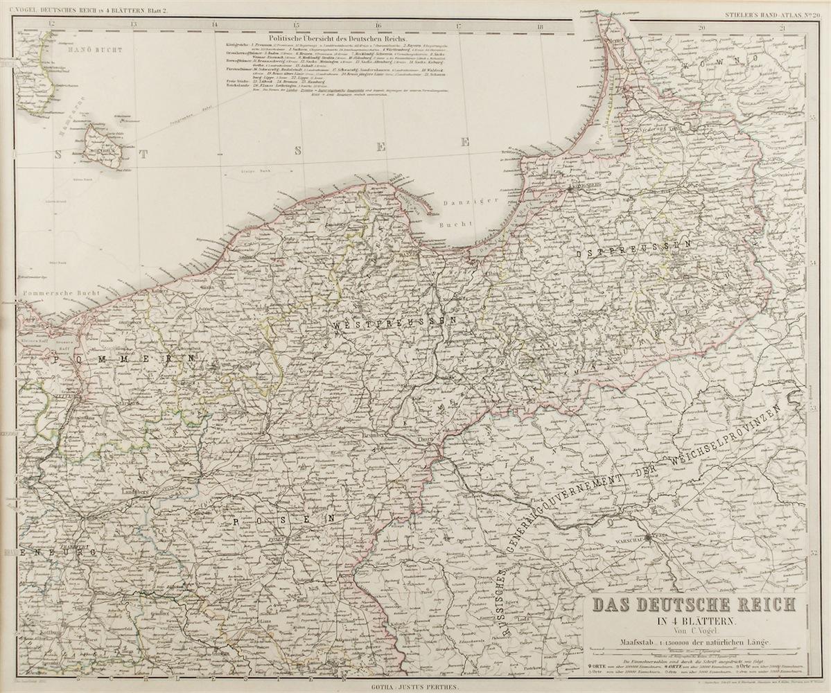 Mapa Pomorza i Prus
