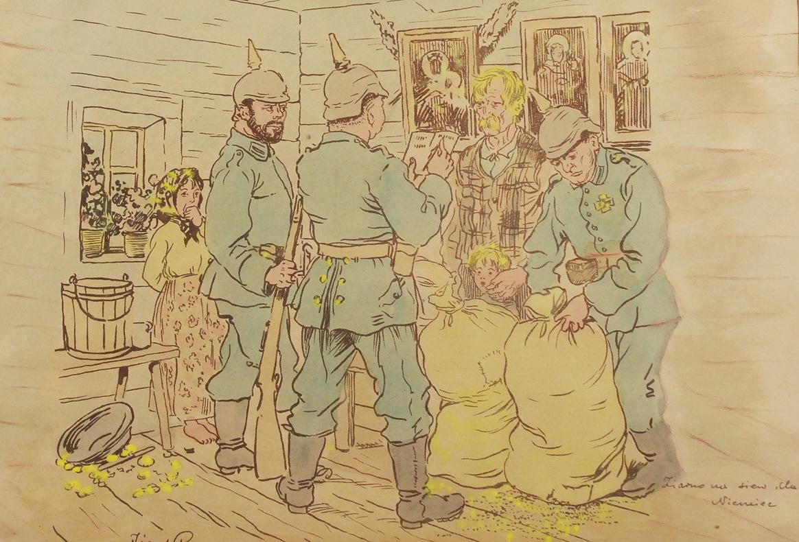 Ziarno na siew dla Niemiec, 1918