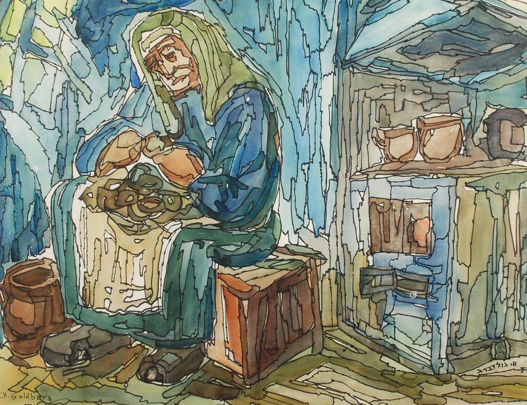 Kobieta obierająca ziemniaki