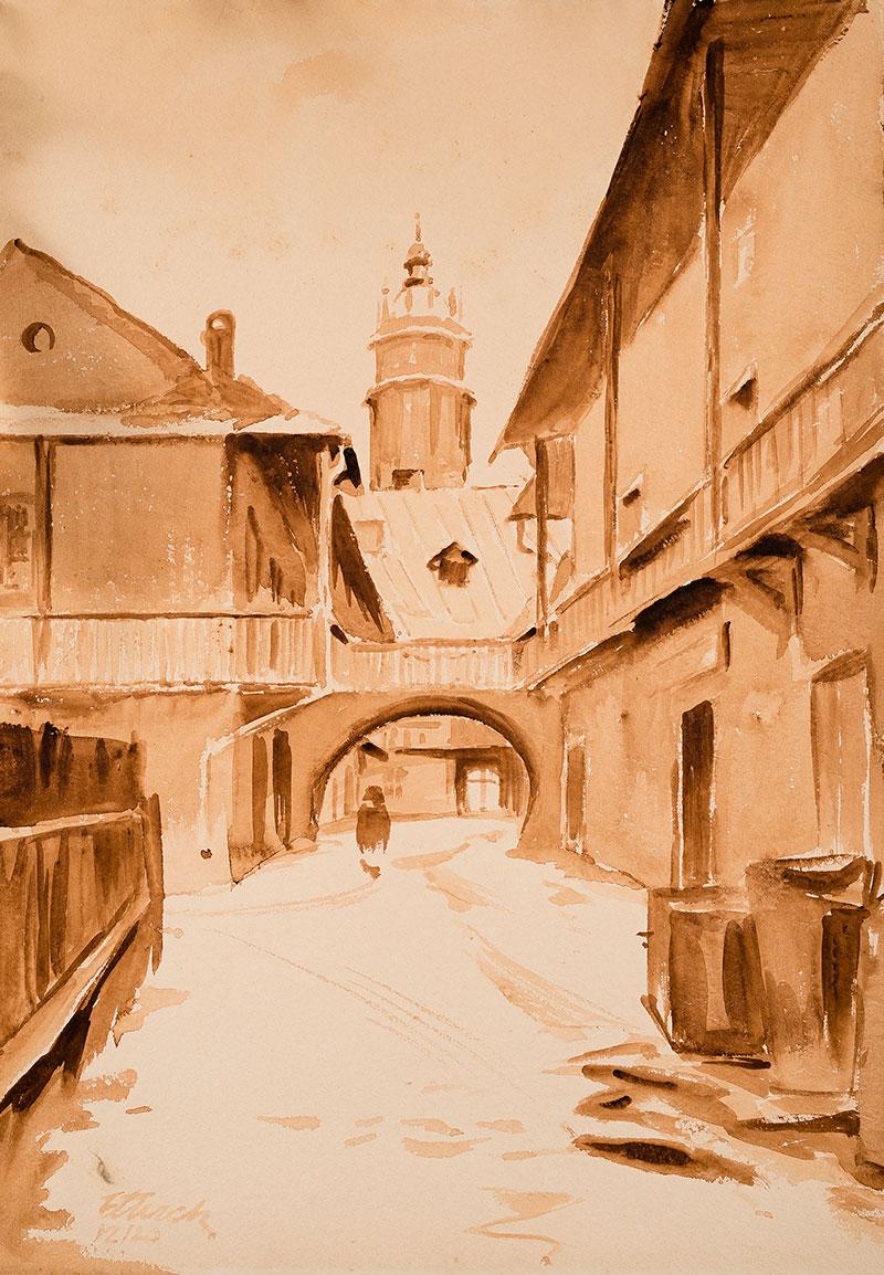 Ulica Floriańska w Krakowiem, około 1920 r.