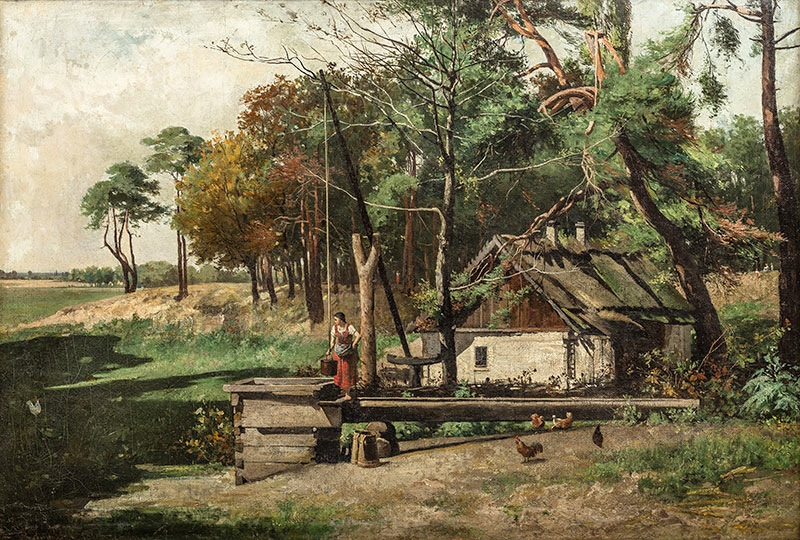 Pejzaż wiejski, ok. 1880 r.
