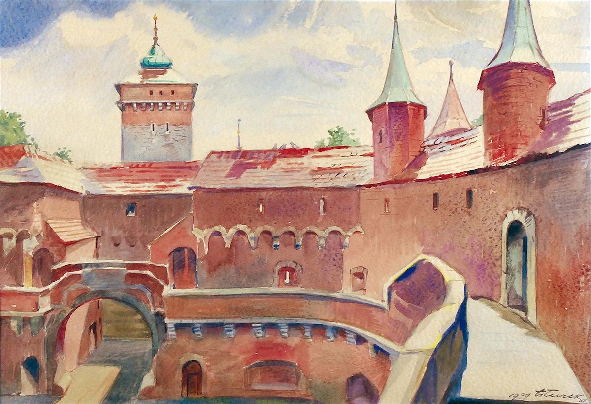 Barbakan krakowski, 1937