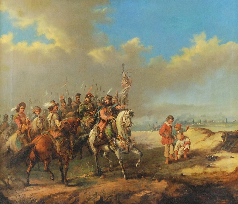 Stefan Czarnecki przyjmuje poselstwo szwedzkie, 1856