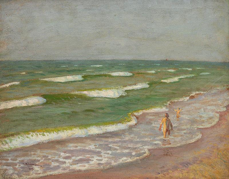 Dzieci na brzegu morza, 1912 r.