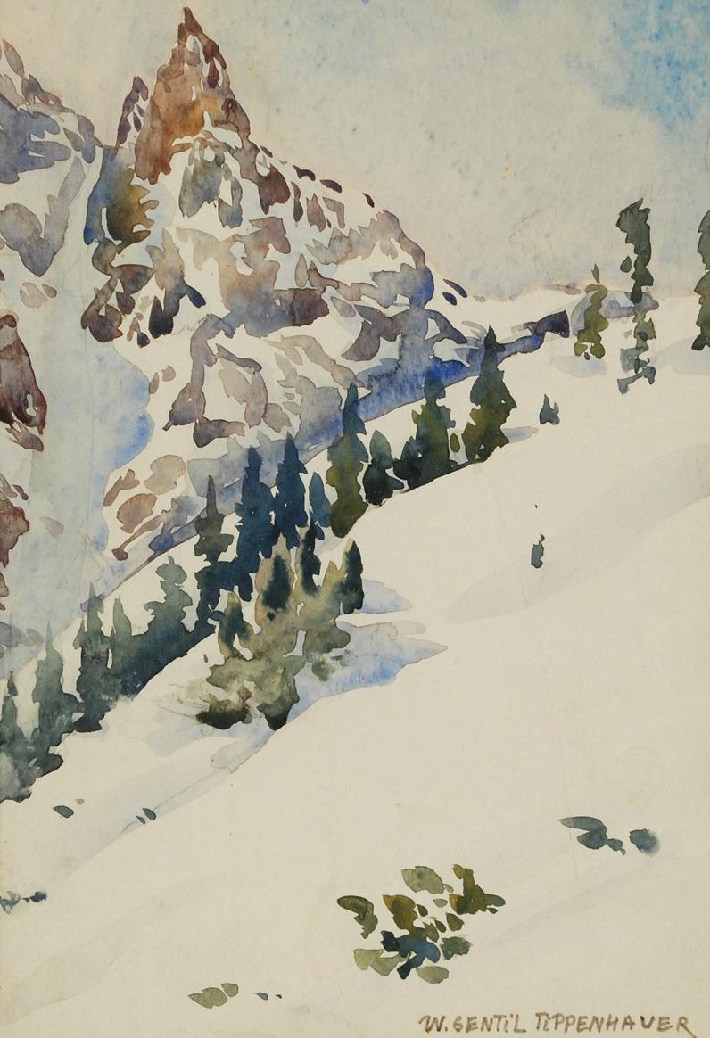Zima w górach - widok na Mnicha