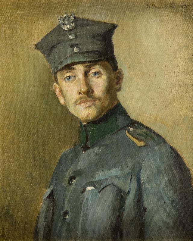 Portret oficera Wojska Polskiego, około 1926 r.