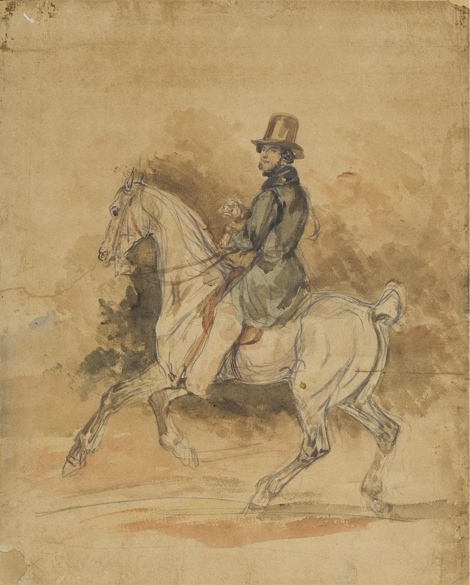 Jaździec na koniu