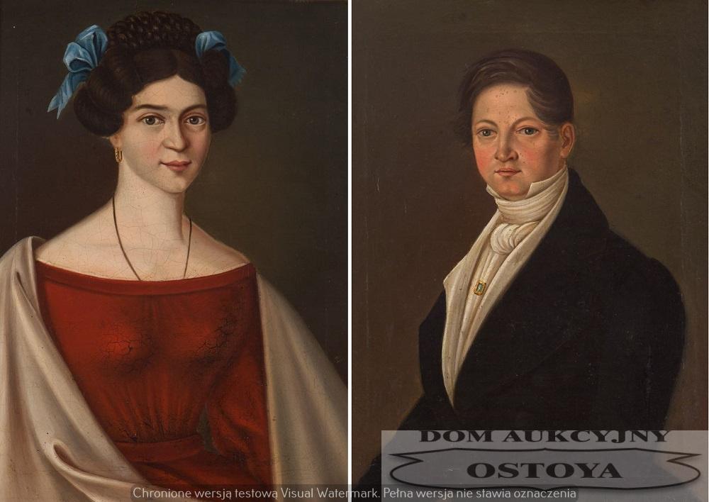 PARA PORTRETÓW: IGNACEGO I FORTUNATY NIEWIADOMSKICH, 1830