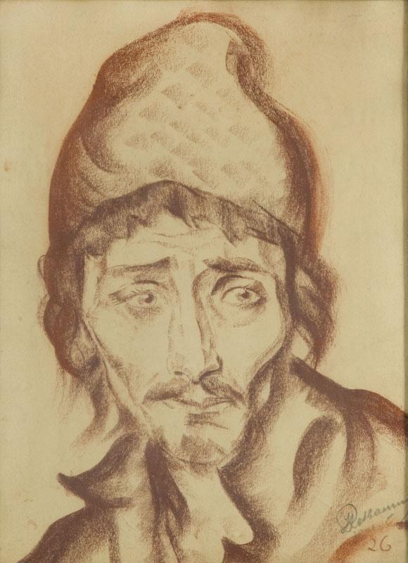 Portret aktora Jonasa Turkowa (1898 - 1988) w roli Benedykta w filmie Jeden z 36, 1926 r.