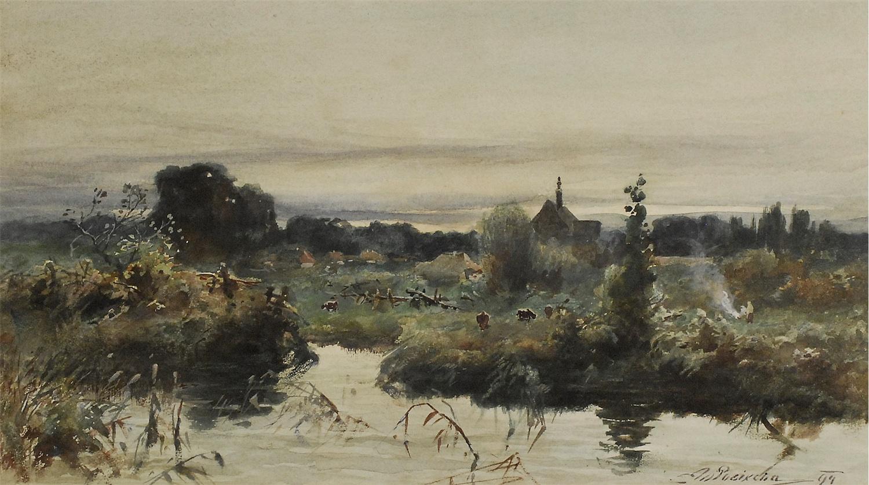 Wieczór nad stawem, 1894