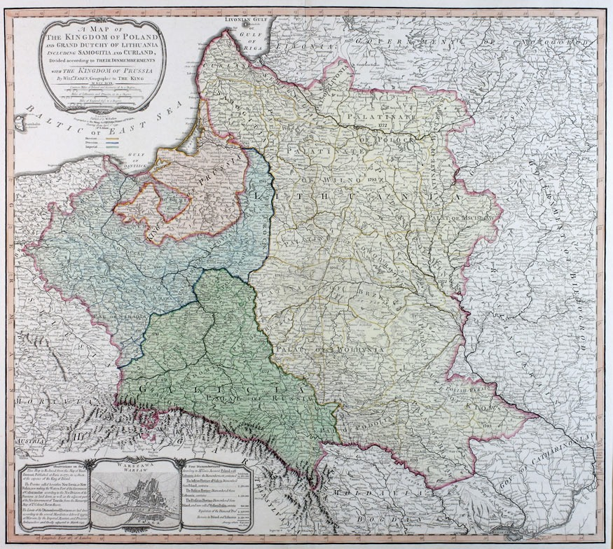 A map of the Kingdom of Poland and of the Grand Dutchy of Lithuania...
