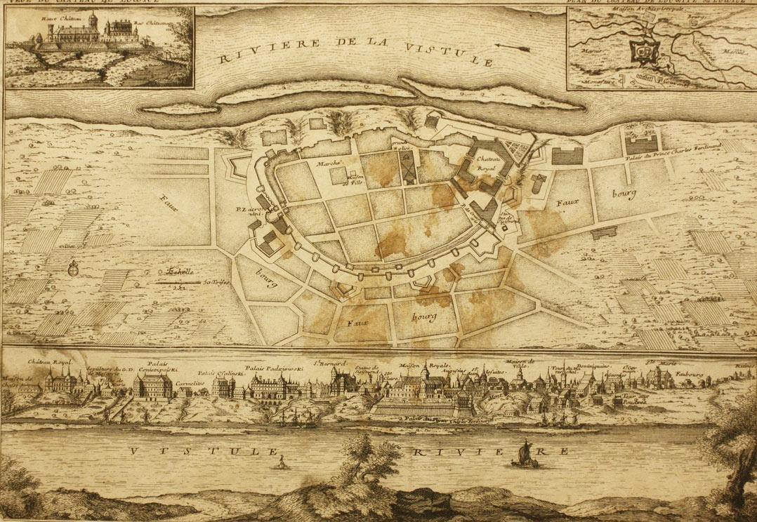 Plan Warszawy z widokiem  Łowicza