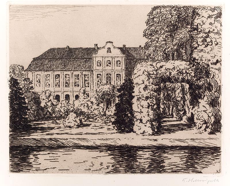 Widok na Pałac Opatów